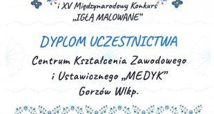 """XXII Ogólnopolski i XV Międzynarodowy Konkurs """"IGŁĄ MALOWANE"""""""